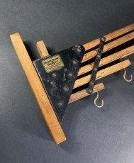 """画像4: 1920-30's """"Holds more Hanger"""" Wood&STEEL Folding Hanger (4)"""