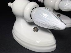 """画像6: 1930's """"PAIR"""" Art Deco Porcelain Candle Lamp (6)"""