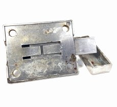 画像3: 1940-50's Nickel Slide Bolt Latch w/ Catch (3)