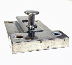 画像5: 1940-50's Nickel Slide Bolt Latch w/ Catch (5)