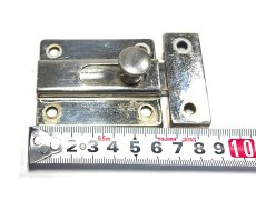 画像6: 1940-50's Nickel Slide Bolt Latch w/ Catch (6)
