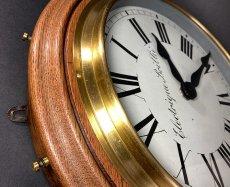 画像7: 1890-1910's ★BRILLIE★ French Wooden Wall Clock (7)
