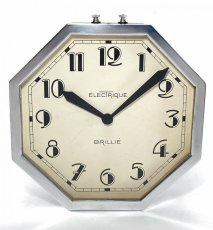 画像5: 1930's ★BRILLIE★  French Octagon Wall Clock  【Mint Condition】 (5)