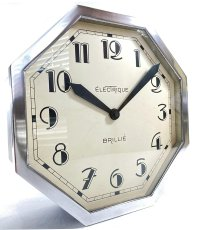 画像2: 1930's ★BRILLIE★  French Octagon Wall Clock  【Mint Condition】 (2)