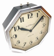画像3: 1930's ★BRILLIE★  French Octagon Wall Clock  【Mint Condition】 (3)