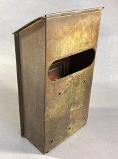 "画像8: 1920-30's ""CORBIN LOCK CO."" Brass Wall Mount Mail Box (8)"