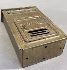 "画像9: 1920-30's ""CORBIN LOCK CO."" Brass Wall Mount Mail Box (9)"