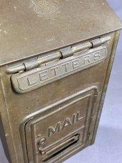 "画像5: 1920-30's ""CORBIN LOCK CO."" Brass Wall Mount Mail Box (5)"