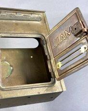 "画像10: 1920-30's ""CORBIN LOCK CO."" Brass Wall Mount Mail Box (10)"