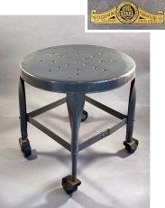 画像1: 1940-50's Rolling Metal Stool  ★Toledo Metal Furniture Co.★ (1)