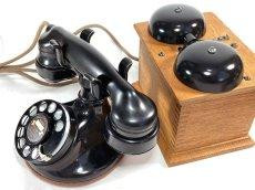 画像3: - 実働品 - 1920's ★Western Electric★ Telephone  with Wood Ringer Box (3)