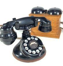 画像2: - 実働品 - 1920's ★Western Electric★ Telephone  with Wood Ringer Box (2)