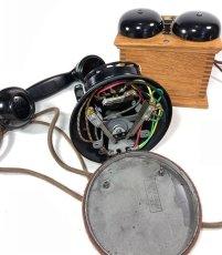 画像20: - 実働品 - 1920's ★Western Electric★ Telephone  with Wood Ringer Box (20)