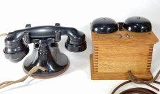 画像14: - 実働品 - 1920's ★Western Electric★ Telephone  with Wood Ringer Box (14)