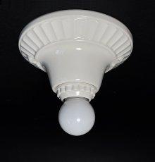 画像3: 1930-40's Art Deco Porcelain Bare Bulb Light (3)