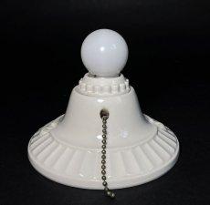 画像5: 1930-40's Art Deco Porcelain Bare Bulb Light (5)