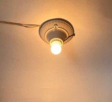 画像2: 1930-40's Art Deco Porcelain Bare Bulb Light (2)