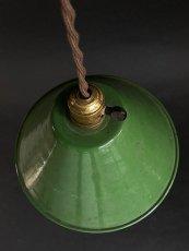"""画像2: 1940-50's """"Enamel Shade"""" Pendant Lamp (2)"""