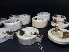 画像4: 1910-20's Porcelain Rosette Lamp parts  【6個セット】 (4)
