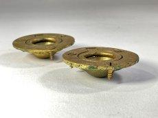 """画像2: 1920-40's Cast Brass """"Cabinet"""" pull handles  【2-sets + マイナスビス付き】 (2)"""