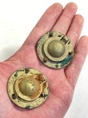 """画像5: 1920-40's Cast Brass """"Cabinet"""" pull handles  【2-sets + マイナスビス付き】 (5)"""