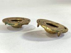 """画像3: 1920-40's Cast Brass """"Cabinet"""" pull handles  【2-sets + マイナスビス付き】 (3)"""