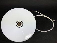 """画像6: 1930's German-Deco """"Milk Glass"""" Pendant Lamp (6)"""