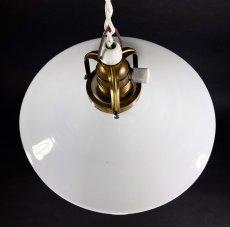 """画像2: 1940's German-Deco """"Milk Glass"""" Pendant Lamp (2)"""