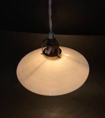 """画像5: 1940's German-Deco """"Milk Glass"""" Pendant Lamp (5)"""