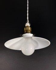 """画像4: 1930's German-Deco """"Milk Glass"""" Pendant Lamp (4)"""