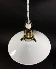 """画像2: 1930's German-Deco """"Milk Glass"""" Pendant Lamp (2)"""
