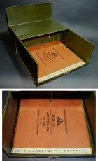 """画像2: 1930-40's """"ASCO N.Y."""" Steel File Box【 FAT !! 】 (2)"""