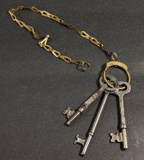 画像1: 1930-40's Brass Key Chain (1)