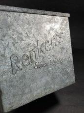 """画像4: 1940's """"Renken's"""" Galvanized Milk Delivery Cooler Box (4)"""