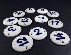 画像1: Antique Porcelain Number Tag【バラ売り】 (1)