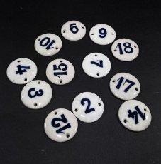 画像3: Antique Porcelain Number Tag【バラ売り】 (3)