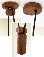 """画像3: 【DOMUS】 1960-70's  """"Rise&Fall"""" Wood Pendant Light  """"超•BIG!!"""" (3)"""