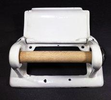 """画像9: 1920-30's German-Deco """"Cast-Iron"""" Toilet Paper Holder (9)"""
