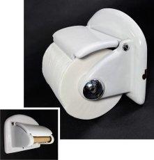 """画像1: 1920-30's German-Deco """"Cast-Iron"""" Toilet Paper Holder (1)"""