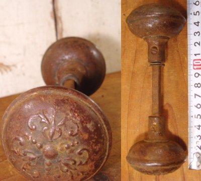 """画像1:  Antique """"Victorian"""" Iron&Steel Doorknob"""