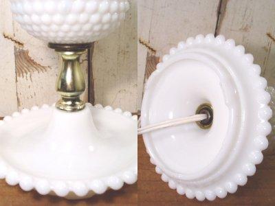 """画像3: 50-60's """"Blue cloth Shade"""" Hobnail Table Lamp"""