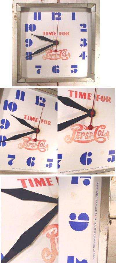 """画像2: 1930〜40's """"PEPSI-COLA"""" Advertising Metal Wall Clock"""