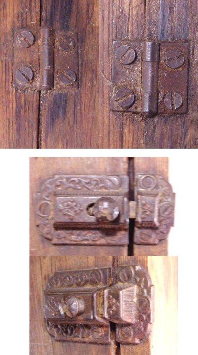 画像3: 1900-20's Country Wood Medicine Cabinet