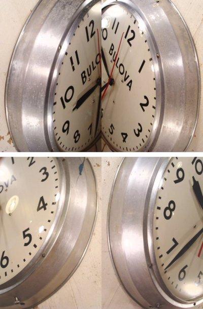 """画像2: 40's BULOVA """"LARGE"""" Aluminum Garage Clock"""