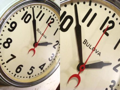 "画像1: 40's ""BLOVA"" Hand Paint Metal Wall Clock"