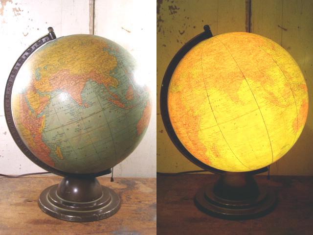 """画像1: 1930's """"Glass"""" Globe Lamp /12inch (1)"""