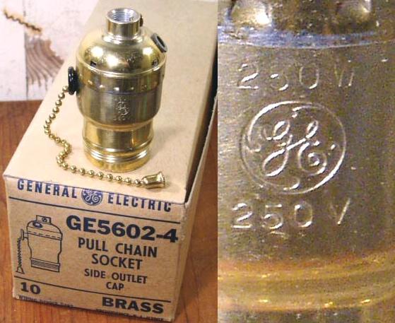 """画像1: """"General Electric"""" Vintage Lamp Socket (1)"""