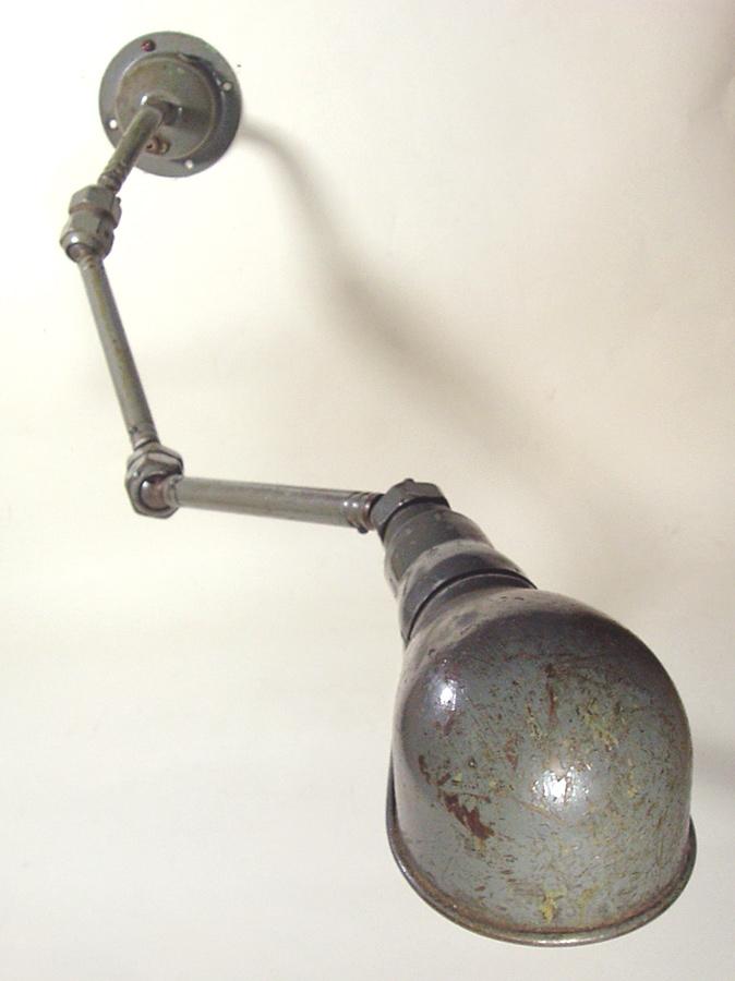 画像1: 1940-Early 50's Wall Mount Task Lamp (1)