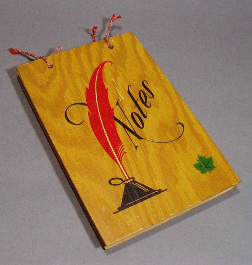 """画像1: Late 1940-50's """"Notes"""" Wooden Note Holder (1)"""