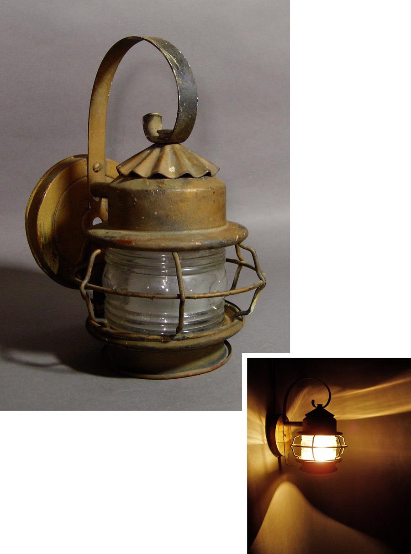 """画像1: 1930's """"Shabby Chic"""" Caged Porch Lamp  (1)"""